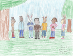 Demetre Surrounded by Arthur and his Friends by WillM3luvTrains