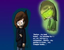 My Creeper Buddy.. by rosetheeevee12