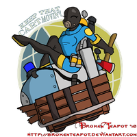 BLU TF2 Payload Spray by BrokenTeapot