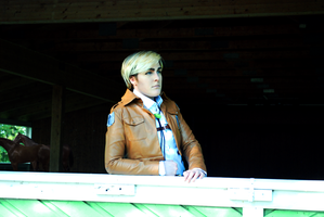 Erwin Smith - SnK - In the stable by Kozekito