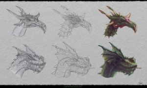 Dragon`s Design #3 by Azot2014