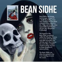 UISCE: Bean Sidhe Collector's Card by justencase