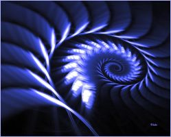 The Blue Mood Spiral by baba49