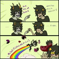 Pull my meme Gamzee and Karkat by cagali101