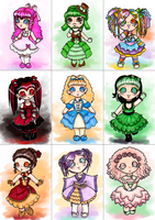 CUPCAEK CHIBIS by Monstrous-Teaparty