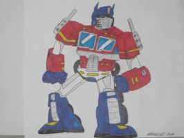 optimus prime 01 by tallcartoons123