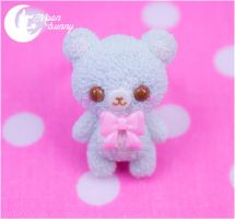 Pastel ice-cream bear (mint) Ring by CuteMoonbunny