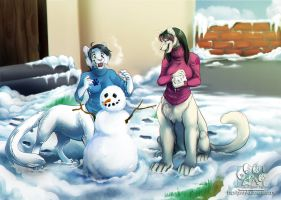 Commission: Snowy day by GaruryKai