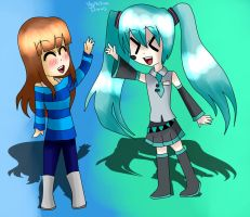 ReDraw = Rosie meets Miku by Veronica-Draws