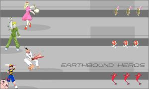Earthbound Heros Wallpaper by thetani