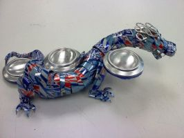 Can Dragon Tealight Holder by ghost-skittles