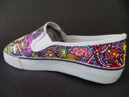 Futurama The Simpsons Crossover shoes -Robot Devil by rachelliles352
