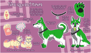 Gage and Mirera Feral Ref sheet! by Mirera