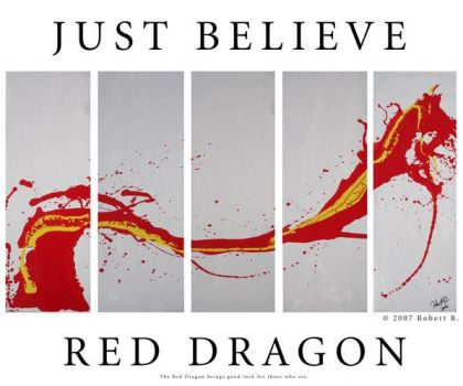 The Red Dragon Poster by robertrpaintings