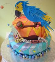 Parrot Head Cake by Heidilu22