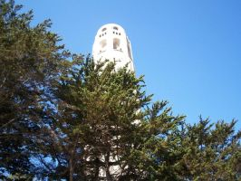 Coit Tower, San Francisco by AMANDABOMINATION