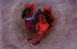 Darth Vader riding a Chocobo unfinished by First1stClass