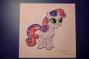 Sweetie Belle Quilling 1 by RadekaL