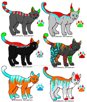 Dubstep kitties ADOPTABLES. by HoudedCanine