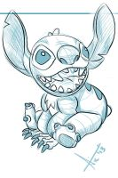 Stitch Quick Sketch by victter-le-fou