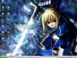 Win XP: Fate Stay Knight Saber by Hizaki-Project