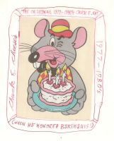 Chuck E. Cheese 1977-1980's birthday pic by dth1971