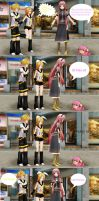 Luka teaches Tako how to sit. by MMDCousins