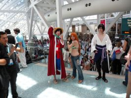 Anime Expo Luffy and Nami by DelphiniumFleur