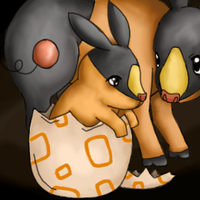Hatched Pokabu by Silently-dreaming