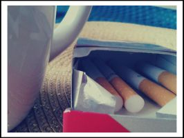Coffee and cigarettes. by crushed--daisies