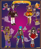 [RAFFLE] Halloween Dessert Monster Adopts [CLOSED] by azume-adopts