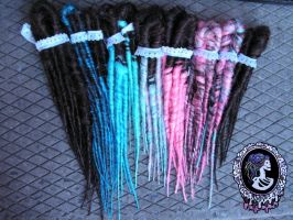 Choco Cotton Candy Dreads by Candy-Toxin