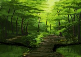 forest speed paint by TheseGuys