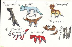 Warrior Cat Adopts (open) 5 POINTS by XTwilight-SerenityX