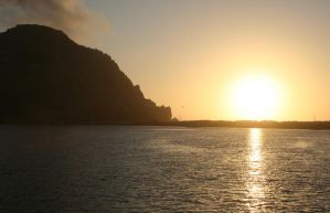 Sunset at Morro Rock by LAWritersLab