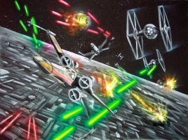 Battle of Yavin by Tiefgrund