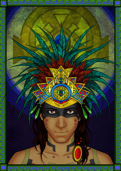 Colour-In April: Aztec by IslandWriter