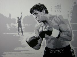 Sylvester Stallone Pop Art by JonMckenzie