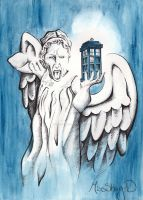 The Angel has the Phone Box by gloveinabox