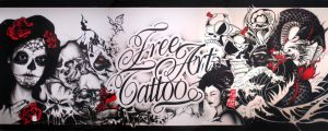 free art tattoo wall by ewil33