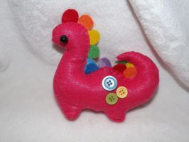 Chibi Pink Dino Ornament AKA Patty xD by Mishaila