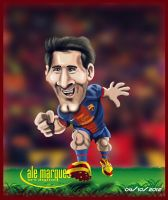LIONEL MESSI - CARICATURE by alemarques21