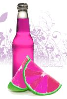 Pink fruit drink by nadda1984