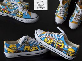 Zapatillas Minion / Minion custom shoes by Pandagorri