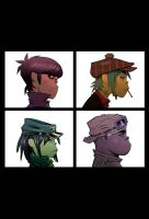 Gorillaz Demon Days iPhone Wallpaper by Caboose6789