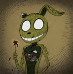 FNAF - Springtrap and a Rose (Trade) by Atlas-White