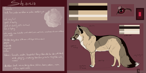 Shania - ref sheet NEW by CaledonCat