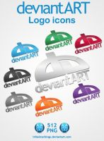deviantART logo icons by tRiBaLmArKiNgS