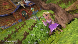 Rapunzel and Flynn Rider - Tangled by JhonyHebert