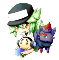 1st Prize - N and Pokemon by NauticalSparrow
